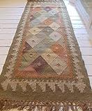 Bazaar Kilim Runner, 66x200cm. 100% Wool.