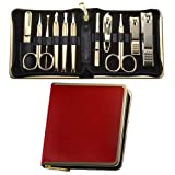 World No. 1, Three Seven 777 Travel Manicure Pedicure Grooming Kit Set, (Total 11 PC, Model: TS-950G), Personal Nail care, Stainless steel - Made in Korea