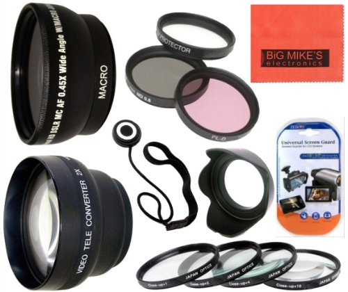 Deluxe Lens Kit For Canon Digital Eos Rebel T1I, T2I, T3, T3I, T4I, T5I, Sl1, Eos M, Eos60D, Eos70D, 50D, 40D, 30D, Eos 5D, Eos1D, Eos5D Mark 2, Eos D Digital Slr Cameras Which Has Any Of These (18-55Mm, 55-250Mm, 100-300Mm, 18-250Mm, 70-300Mm, 75-300Mm,