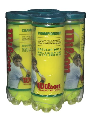 Wilson Championship Regular Duty Tennis Ball (4-Pack), Yellow