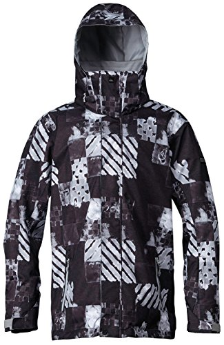 Quiksilver Mens Mission Shell Jacket, Atom Black, Small