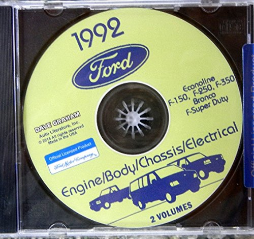 COMPLETE 1992 FORD TRUCK, PICKUP & VAN FACTORY REPAIR SHOP & SERVICE MANUAL CD - INCLUDES Bronco, F-150, F-250, F350, Econoline E-150, E-250, E-350, F-Super Duty -COVERS Engine, Body, Chassis & Electrical. 92 (F150 Radiator Cover compare prices)