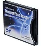 SD/SDHC/MMC/Eye-Fi card to Compact Flash CF Type II Adapter for Professional DSLR Digital SLR Camera PDA Pocket PC