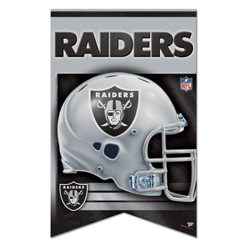 Oakland Raiders Premium Felt Banner 17x26 цена