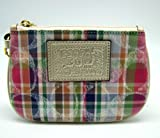 Coach Madras Signature Medium Wristlet Case for iPhone 48751 Multi