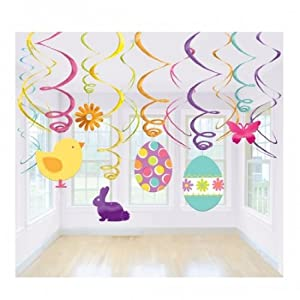 easter swirl decorations pack of 12 toys