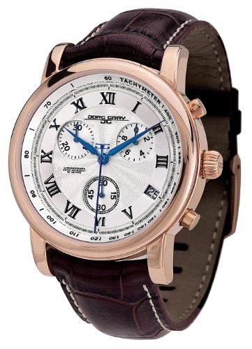 Jorg Gray JG7200-12 - Reloj analógico de caballero de cuarzo con correa de piel marrón