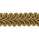 Expo International Alice Classic Woven Braid Trim, 20-Yard, Gold