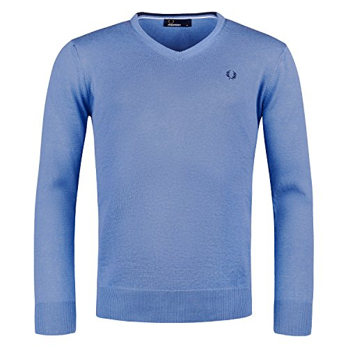 Fred Perry -  Maglione  - Uomo Hellblau / Light Blue M