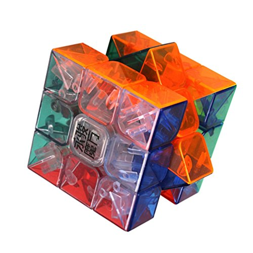 Yeelan Stickerless Magic Cube Puzzle 3x3, Six couleurs et transparente