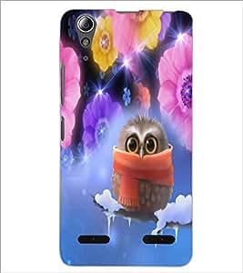 PrintDhaba Owl D-3279 Back Case Cover for LENOVO A6000 PLUS (Multi-Coloured)