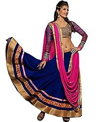 Sargam Fashion Embroidered With Embellished Blue Georgette Traditional Wedding Wear Lehenga Choli Set. - Priyanklehengha