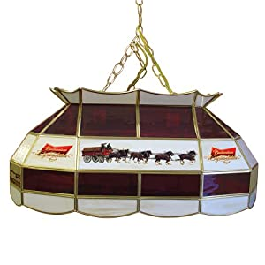 """Amazon.com: Budweiser """"Clydesdales"""" Tiffany Gameroom Lamp, 28"""": Sports"""