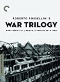 Cover art for  Roberto Rossellini's War Trilogy (Rome Open City / Paisan / Germany Year Zero) (The Criterion Collection)