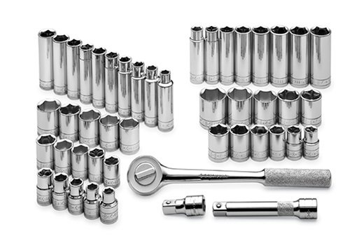 GearWrench 80551 57 Piece 3//8-Inch Drive 12 Point Socket Set