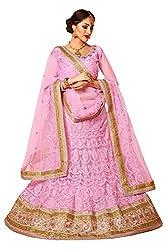 Manvaa Women Net Lehenga Choli(Pink_ASMMTZ7004B_Free Size)
