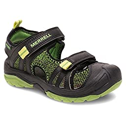 Merrell Boys Hydro Rapid Water Sandal (Toddler/Little Kid/Big Kid), Black/Green, 9 W US Toddler