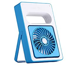 Generic Portable USB Desk Fan Blue