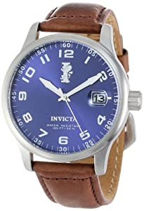 Invicta Men's 15254 I-Force Blue Dial Dark Brown Leather Watch