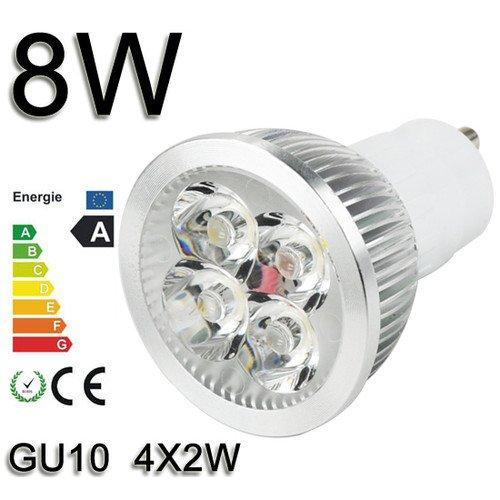 *Himanjie*3W 4W 6W 8W 9W LED SPOT LAMPE Strahler Licht warmweiß GU10 3X1W 4X1W 3X2W 4X2W 3X3W SMD Energiesparlampe Warmlicht nicht dimmbar (8 Watt)