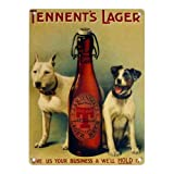 Tennent's Lager - Two Dogs - Mini Metal Wall Sign