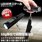My Vision LED付き スケール 小物 測り 吊り下げ 懐中電灯 コンパクト 小型 10g単位 MV-LSUKE