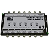 TAMP6R03-T12 DIRECTV® 250 to 2150 MHz (6) coax amplifier with automatic gain, adjustable output and selectable slope, includes PS121000A power adaptor