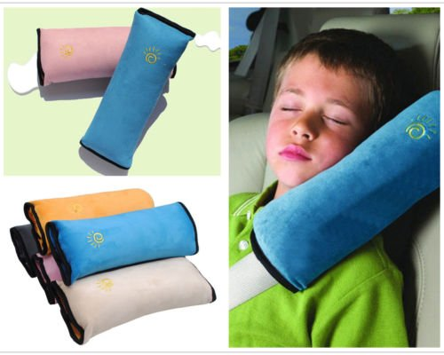 Aeoss Children Kids Baby Car Soft Headrest Neck Support Pillow Shoulder Pad for Car Safety Seatbelt