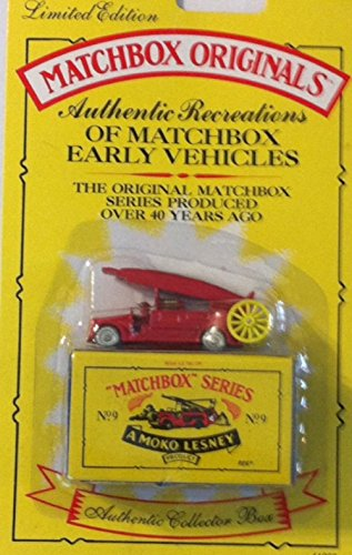 1993 Matchbox Originals Limited Edition Collectors' Series I 1:72 Scale Diecast Vehicle with Authentic Collector Box: 1948 Dennis F. 2 Fire Engine - 1
