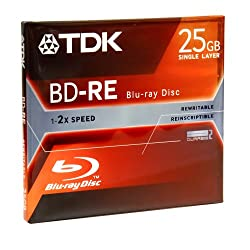 TDK Blu-ray 25GB Rewritable Recording Disc (BDRE25A)