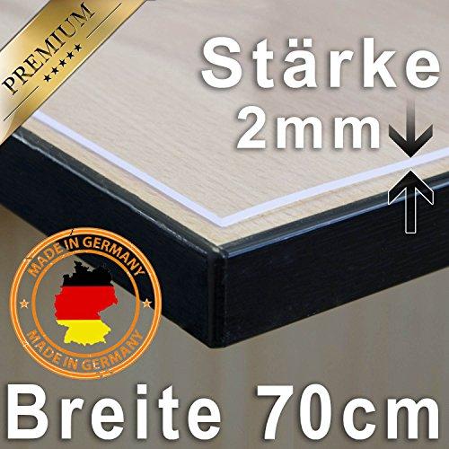 Tischdecke Tischfolie Schutzfolie Tischschutz Folie 2mm transparent 70cm Breit Länge wählbar