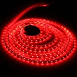 Tira de luz LED flexible, impermeable, de12V con 300 SMD y 3528 LED, 5 metros, color roja.