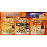 Uncle Ben's Ready Rice 6 Pouch Value Assortment Box , 6 x 8.8 oz (250 g) NET WT 3.3 lb