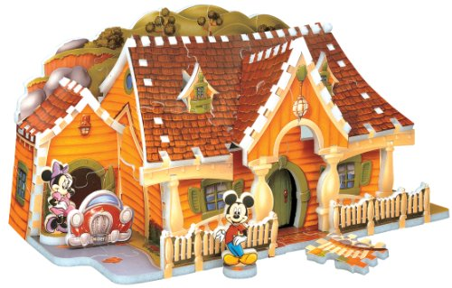 Mickey Mouse House 3D Puzzle, 70-Piece