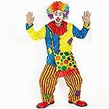 ヤング(Young) ピエロ 衣装 目立つぜ お得フルセット (服 パンツ バッグ マスク ウィッグ) スーツ 仮装 コスプレ コスチューム 道化師 ジョーカー ハロウィン halloween 男女共用 168から185cm