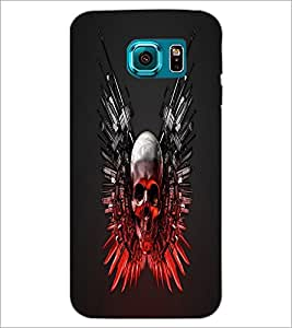 PrintDhaba Skull D-1240 Back Case Cover for SAMSUNG GALAXY S6 (Multi-Coloured)