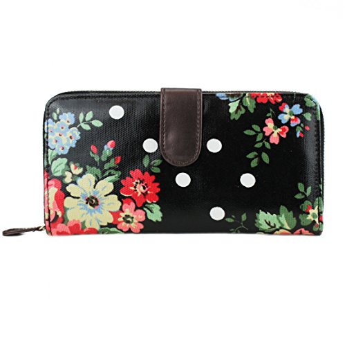 miss-lulu-mujeres-oilcloth-la-carpeta-del-monedero-floral-dot-negro