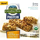 Cascadian Farm, Organic, Protein, Honey Roasted Nut Chewy Bars, 8.85oz Box (Pack of 4)