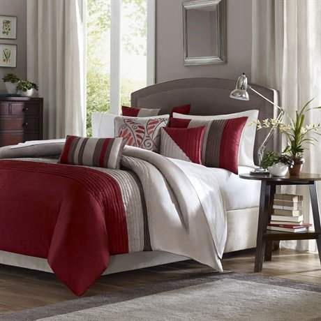 Tradewinds 6 Piece Duvet Set Size: Full / Queen, Color: Red front-842553