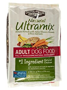 Castor & Pollux Natural Ultramix Adult Dry Dog Food, 30 Pound Bag