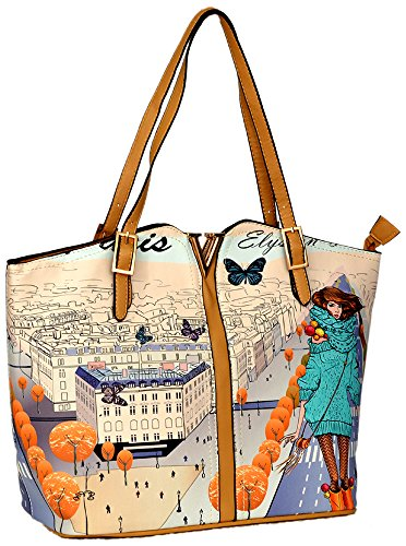 fb1799444a Gouri Bags Beige Colour Digital Printed Stylish Trendy Bag for Girls Women  Handbags Shoulder Soft Leather Bag Ladies Purse Girl Tote Gift Sale Price  in ...