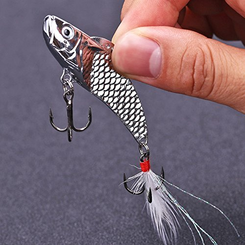 Sougayilang-Long-Casting-Metal-Fish-Spinner-Baits-Bleeding-Shad-Nice-Action-Hard-Sequin-Fishing-Lures-with-Feather-Two-Treble-Hooks-for-Saltwater-Freshwater-Fishing