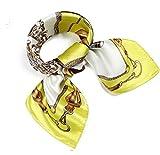 (ロージー)Rosy* 【シルク風 アンティーク調 スカーフ】お洒落 正方形 ツイリー バッグ シュシュ ヘッドドレス ベルト ブレスレット 巻き方 アレンジ自由 トレンド yl