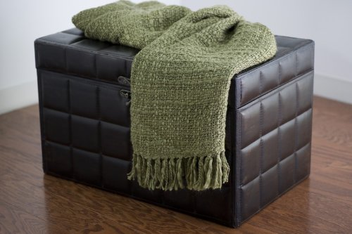 Rizzy Home TH-0091 50-Inch by 60-Inch Throw, Sage