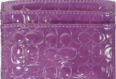 Coach Embossed Liquid Card Case Iris Purple F62544B4IRI