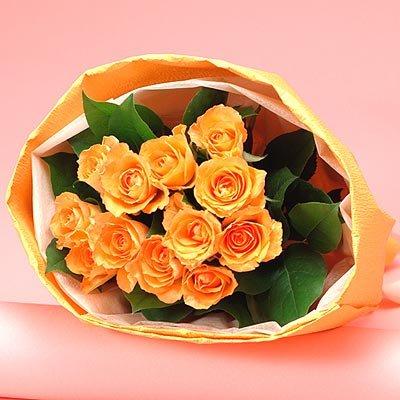 【日比谷花壇】花束「1ダースのバラ(オレンジ)」
