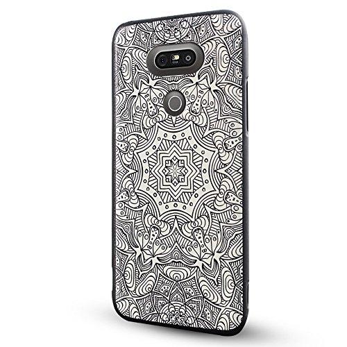 LG G5 Cover,Lizimandu Creative 3D Schema UltraSlim TPU Copertura Della Cassa Del Custodia Case Tacsa Protettiva Shell per lg g5(Fiore Bianco/White Flower)