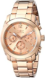 Invicta Women's 17902 Angel Analog Display Swiss Quartz Rose Gold Watch