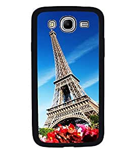Fuson Premium 2D Back Case Cover Eiffel tower With Pink Background Degined For Samsung Galaxy Mega 5.8 i9150::Samsung Galaxy Mega 5.8 i9152