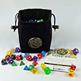 Third Die Celtic Dragon Dice Bag - Handcrafted Reversible Drawstring Bag That Stands Open On The Table - Dragon...